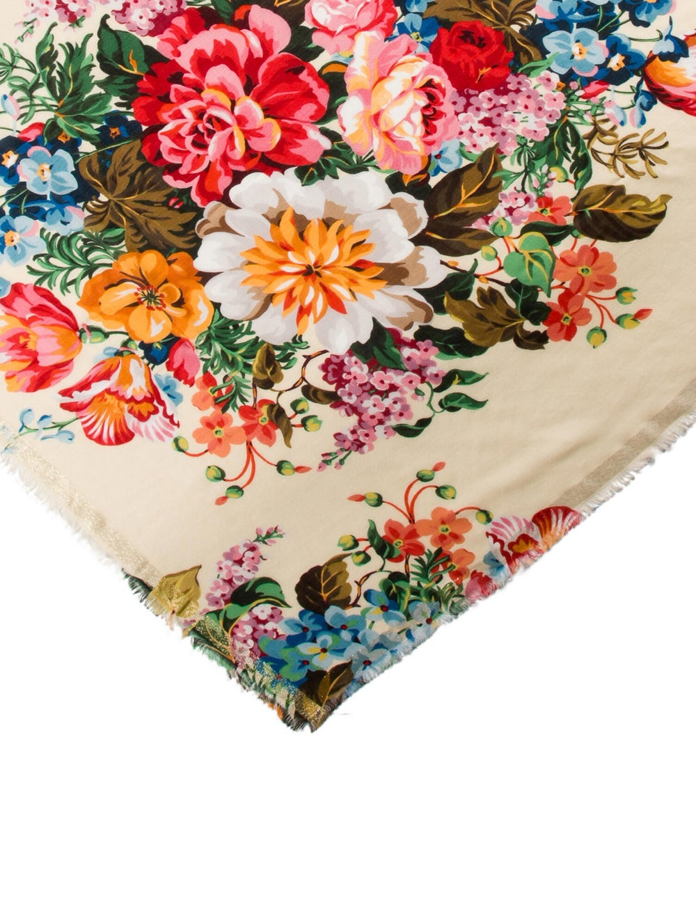 Gucci Floral Printed Scarf w/ Tags multicolor - image 2