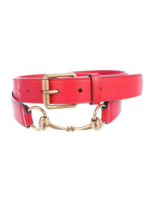 Gucci Horsebit Leather Belt gold