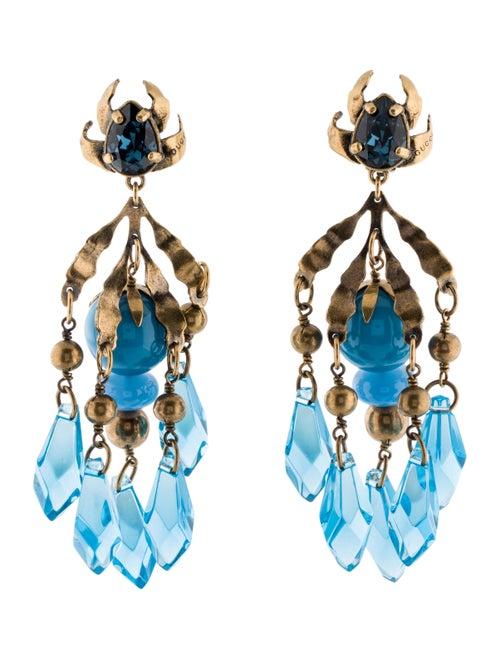 Gucci Runway Clip-On Chandelier Earrings Gold