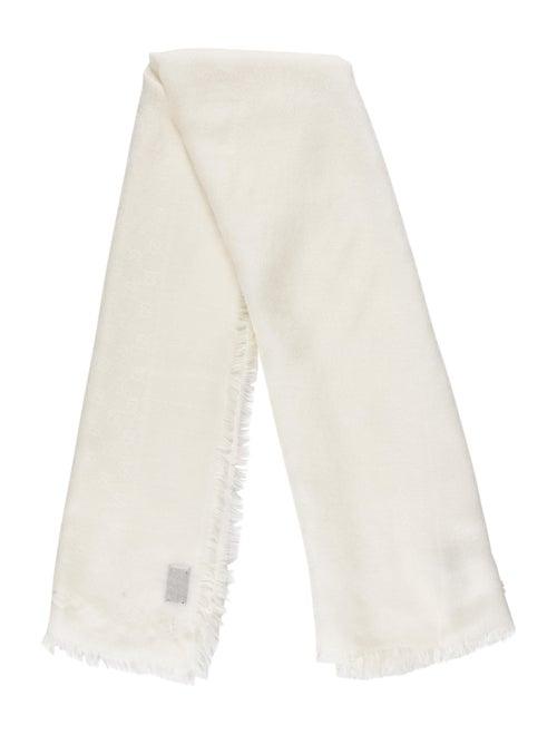 Gucci Wool-Silk GG Scarf w/ Tags wool