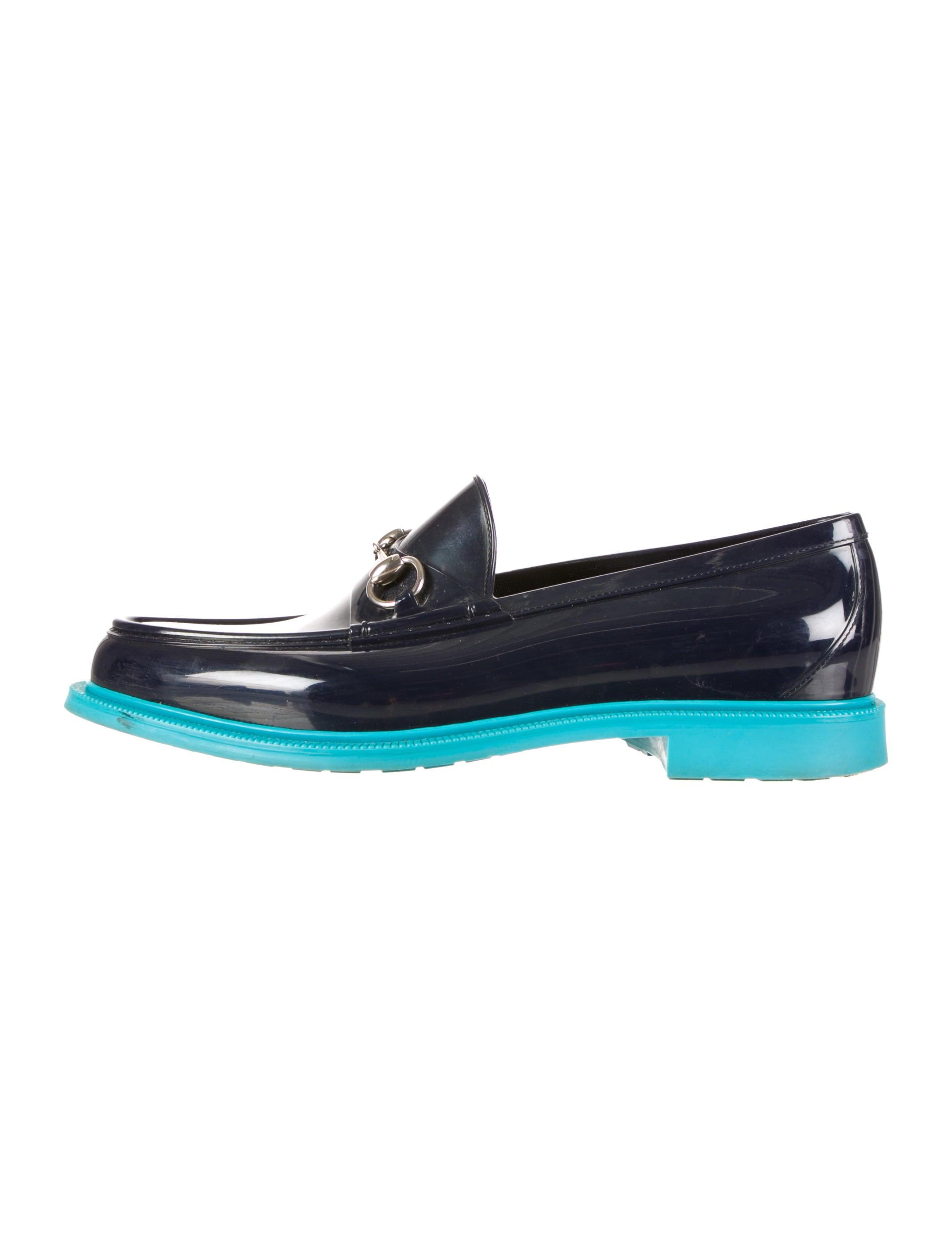 492bb06cd56 Gucci Horsebit Rain Loafers - Shoes - GUC52871