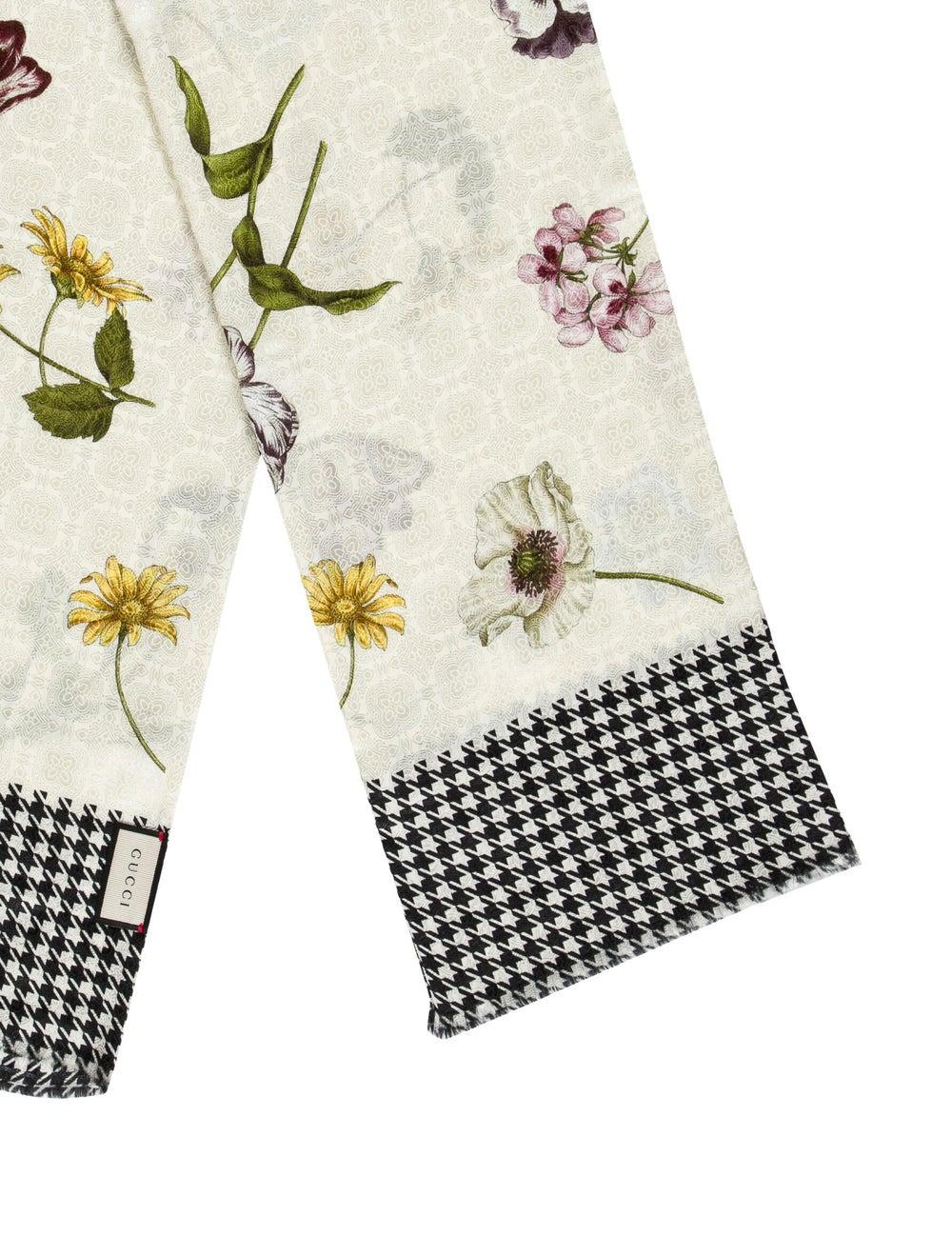 Gucci Floral Print Silk-Blend Scarf w/ Tags multi… - image 2