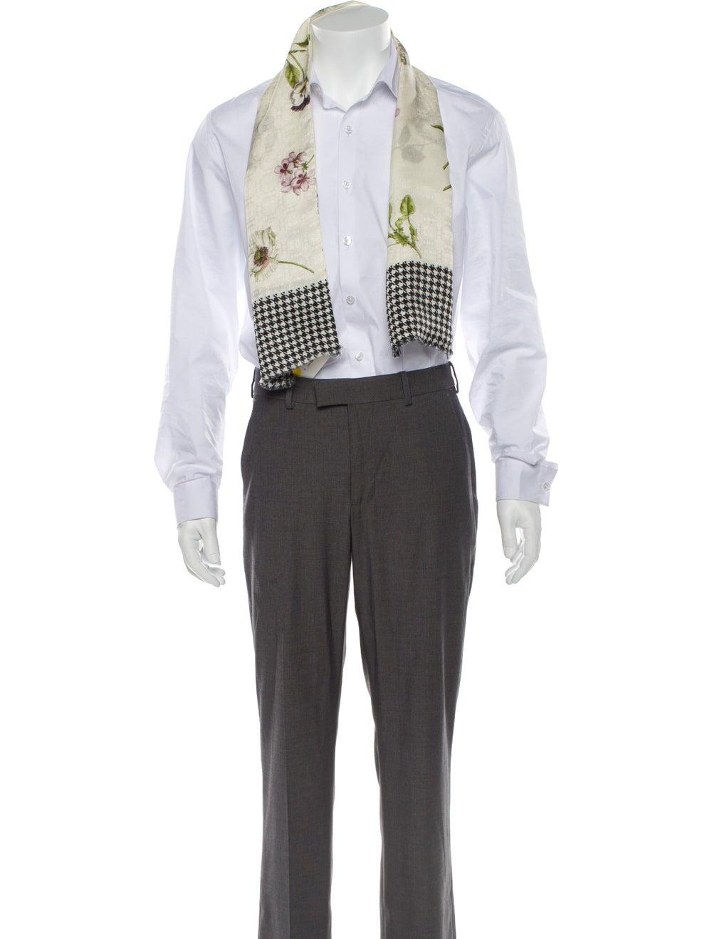 Gucci Floral Print Silk-Blend Scarf w/ Tags multi… - image 3