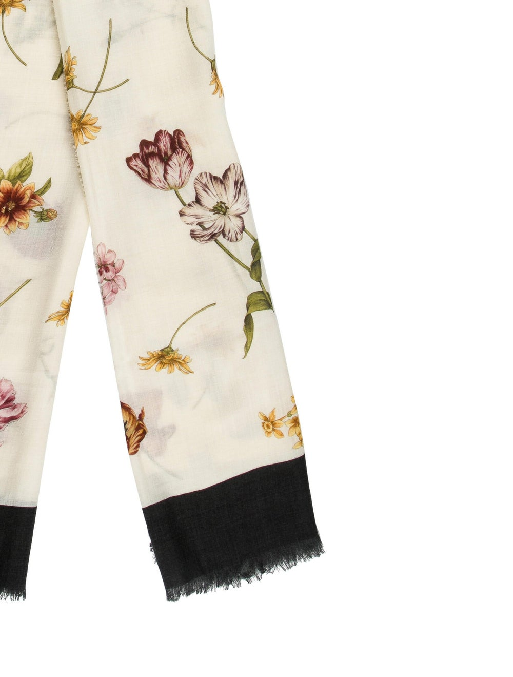 Gucci Floral Print Wool Scarf w/ Tags multicolor - image 2