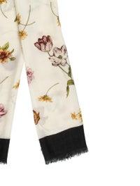 Gucci Floral Print Wool Scarf w/ Tags