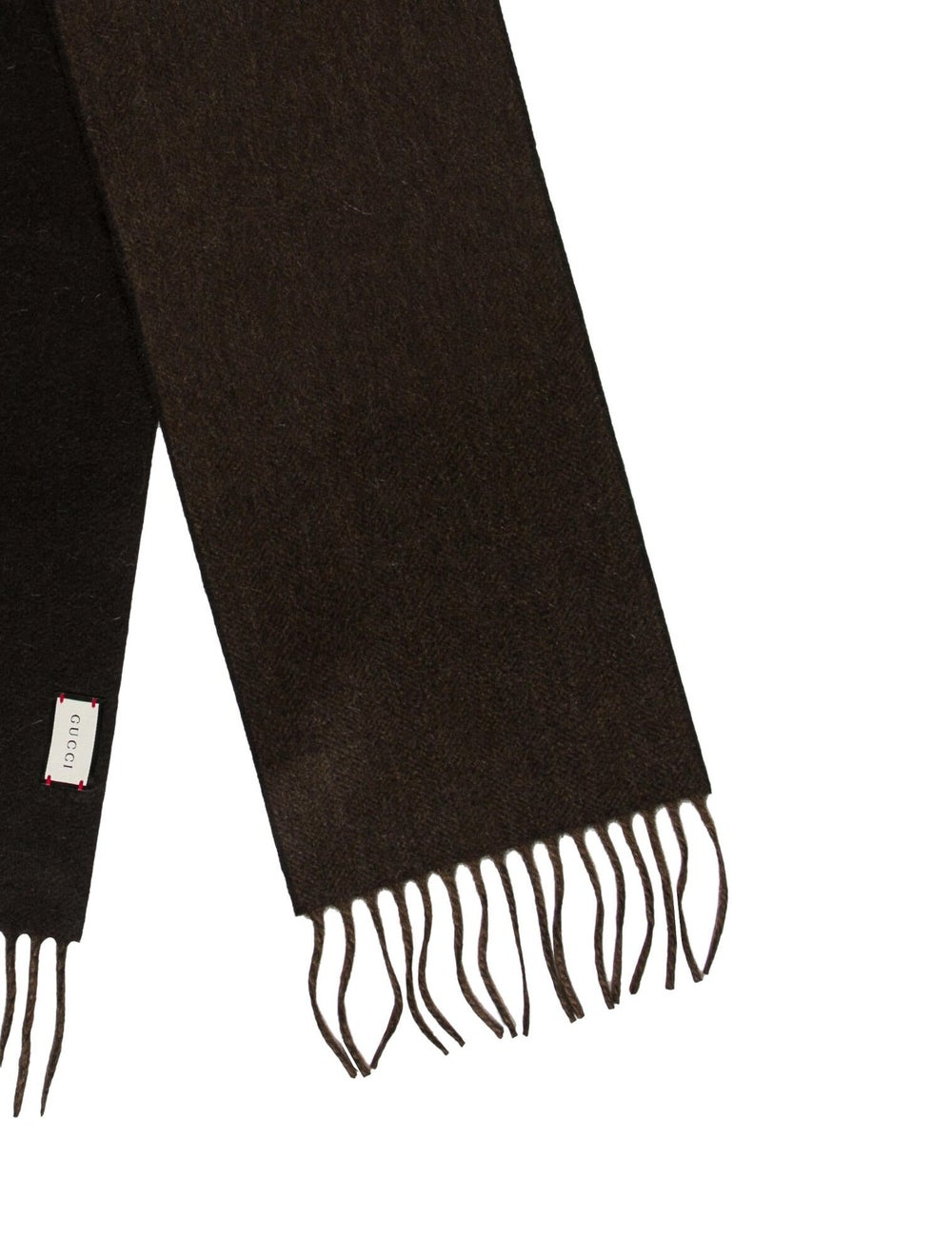 Gucci Fringe-Trimmed Cashmere Scarf w/ Tags brown - image 2