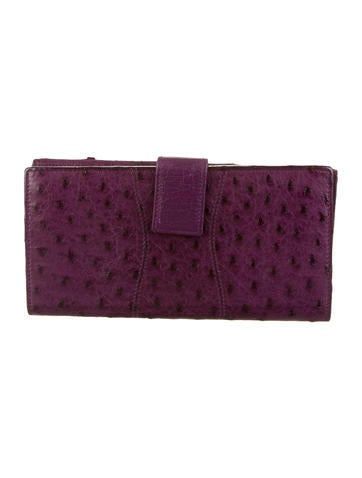 Ostrich Horsebit Wallet