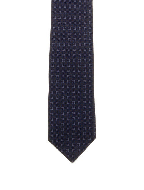 Gucci Patterned Silk Tie blue