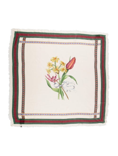Gucci Floral Print Scarf w/ Tags multicolor - image 1