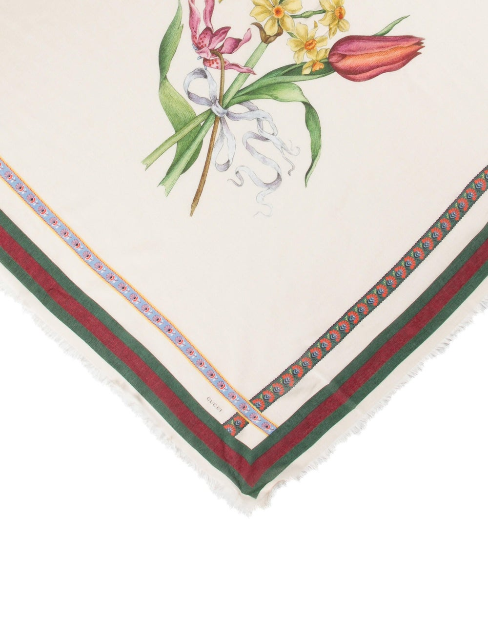 Gucci Floral Print Scarf w/ Tags multicolor - image 2