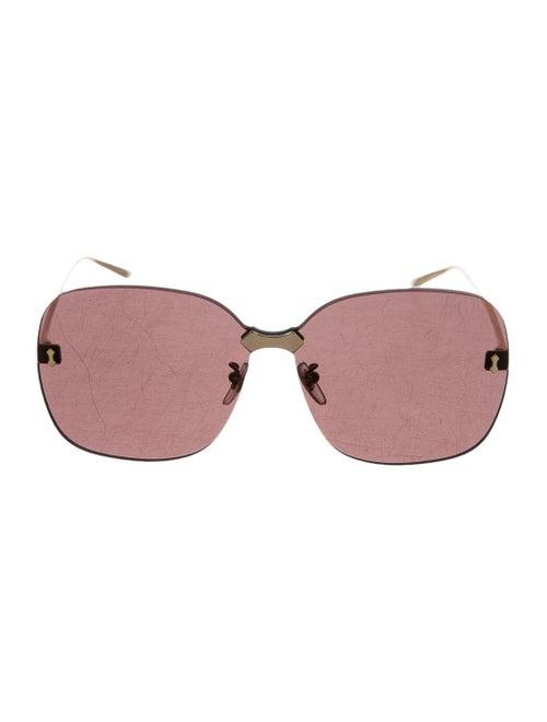 Gucci Rimless Square Sunglasses gold
