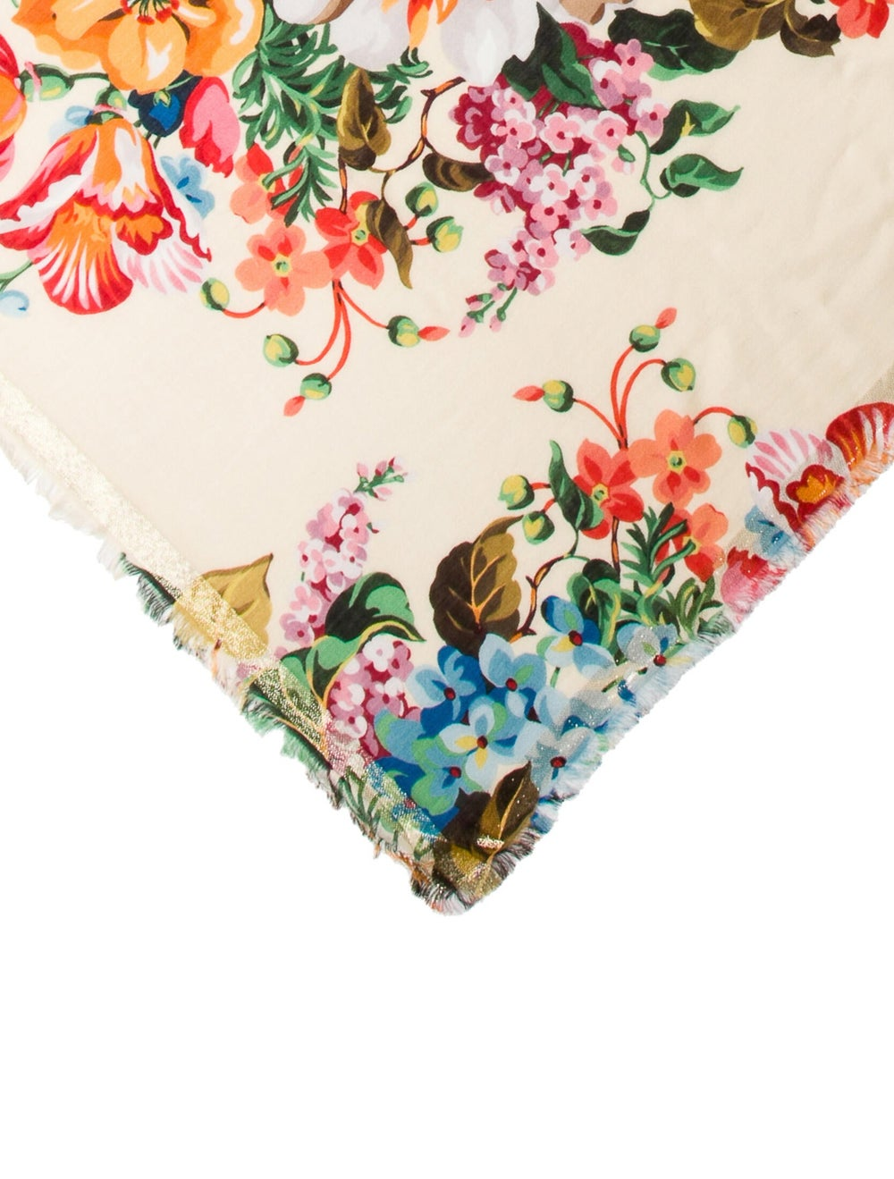 Gucci Wool Floral Scarf w/ Tags multicolor - image 2