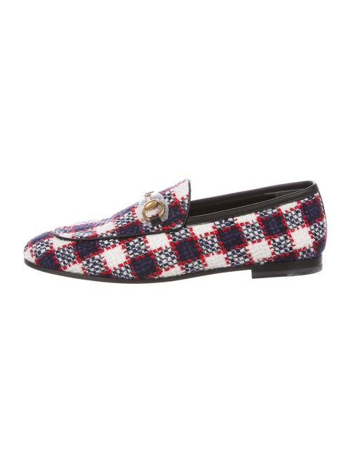 Gucci Jordaan Horsebit Accent Loafers White