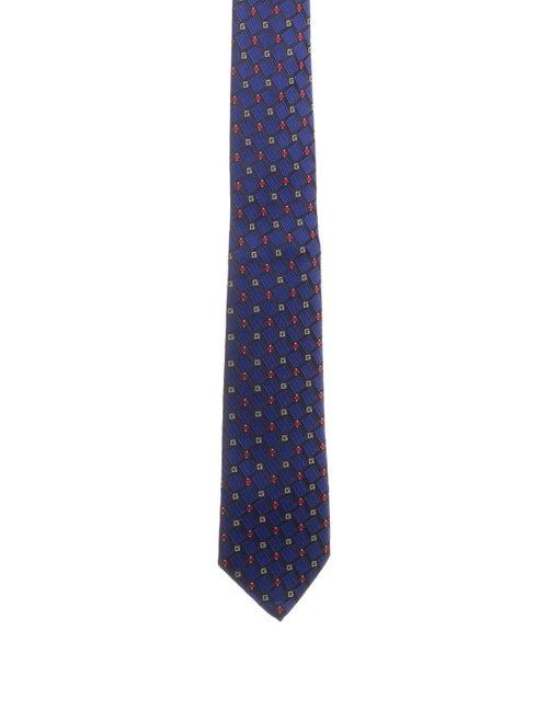Gucci Flyfield Silk Tie blue