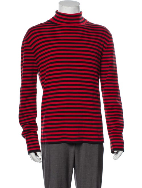 Gucci Striped Turtleneck Pullover Red
