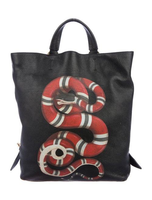 Gucci Calfskin Kingsnake Backpack Black