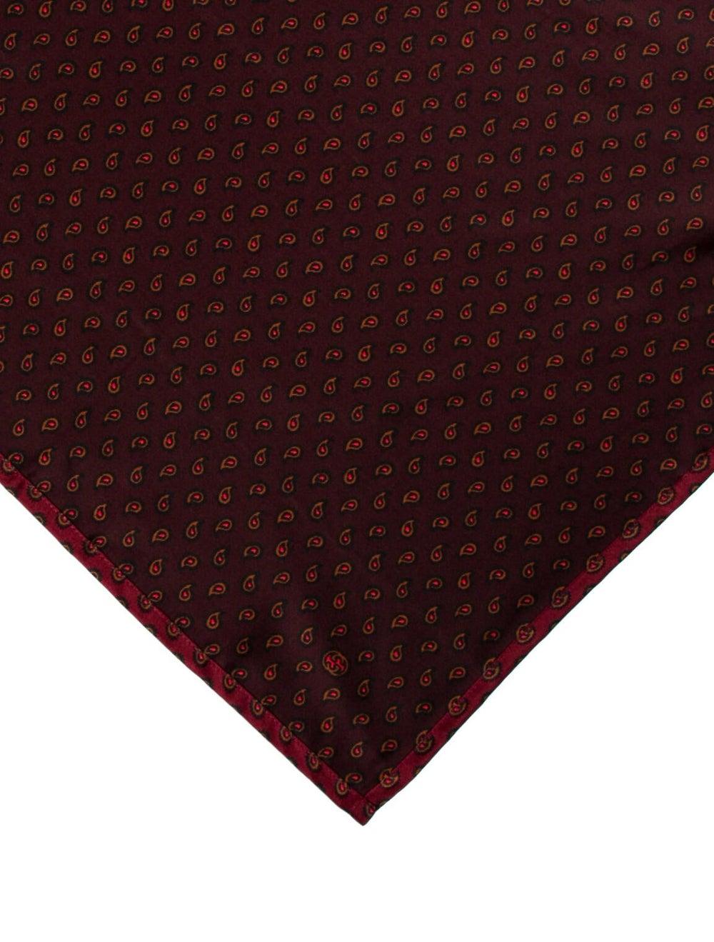 Gucci Silk Printed Pocket Square brown - image 2