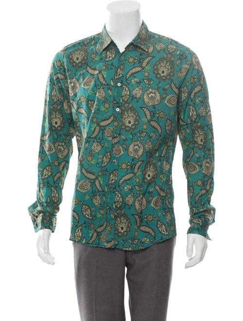 Gucci Patterned Dress Shirt w/ Tags teal