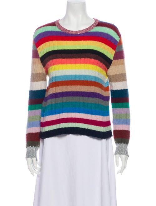 Gucci Cashmere Wool Rainbow Stripe Sweater Cashmer