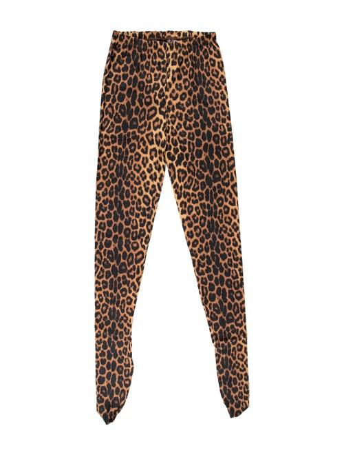 Gucci Leopard Silk Tights w/ Tags Leopard