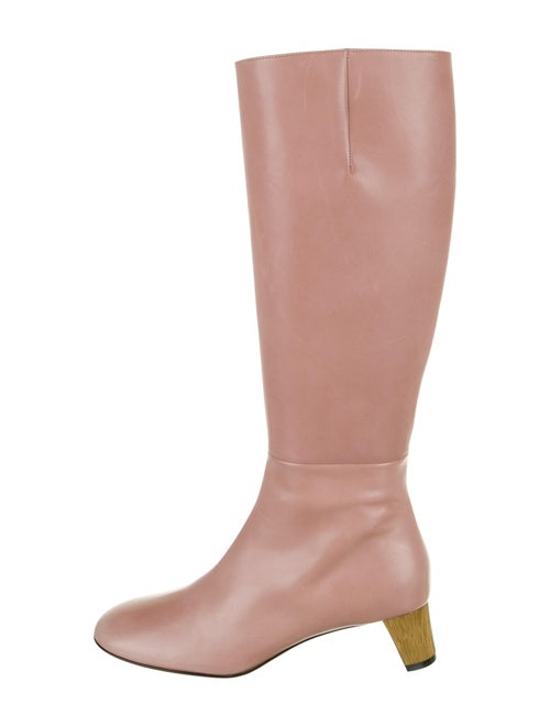Gucci Leather Boots Pink