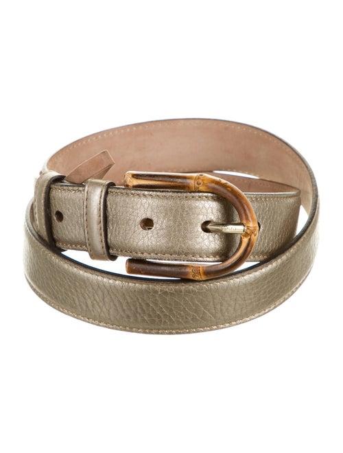 Gucci Leather Belt Gold
