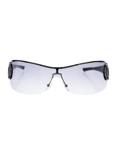 Gucci Strass Hasler Rimless Sunglasses