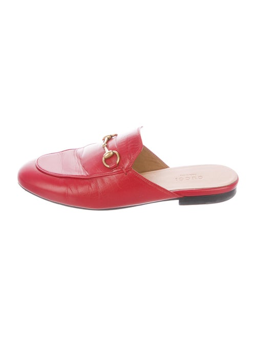 Gucci Leather Mules Red
