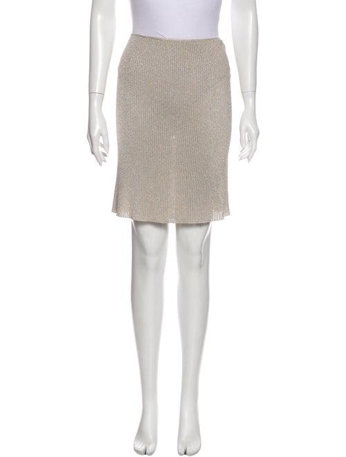 Gucci Knee-Length Skirt Metallic