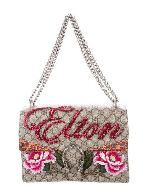 Gucci Medium Python Elton John Dionysus Bag Silver