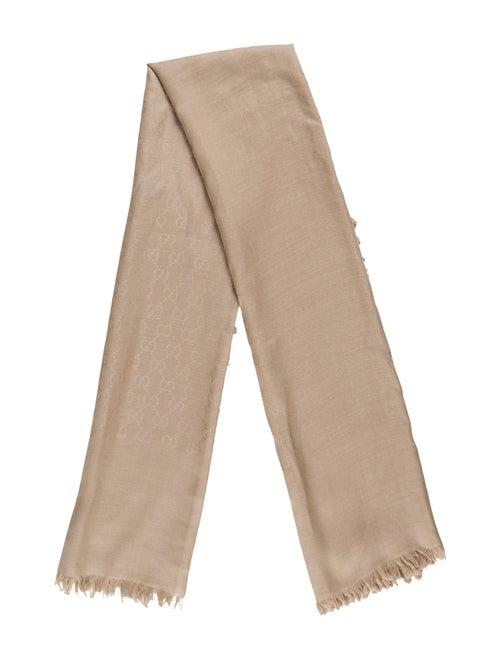 Gucci Logo Wool & Silk Blend Scarf wool