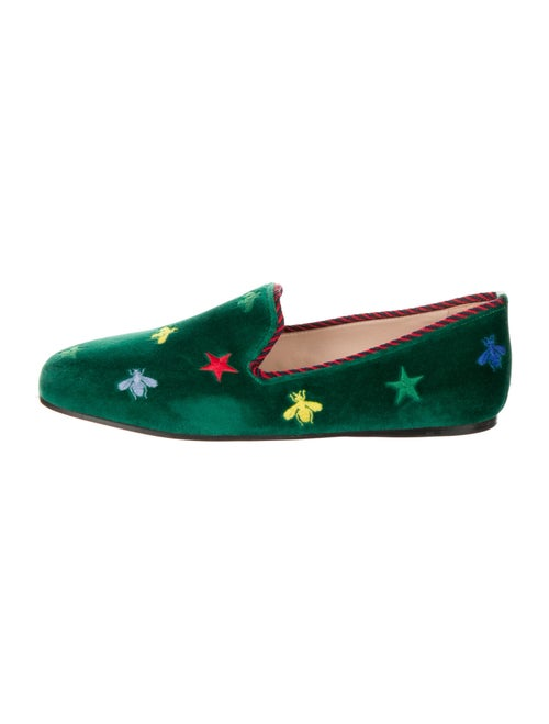 Gucci Kibi Suede Loafers Green