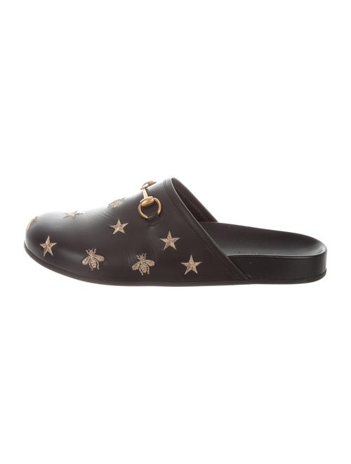 Gucci River Leather Slippers Black