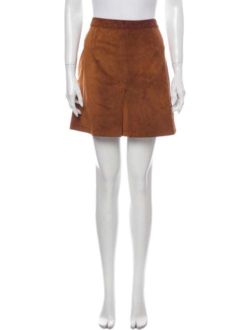 Gucci Suede Mini Mini Skirt Brown