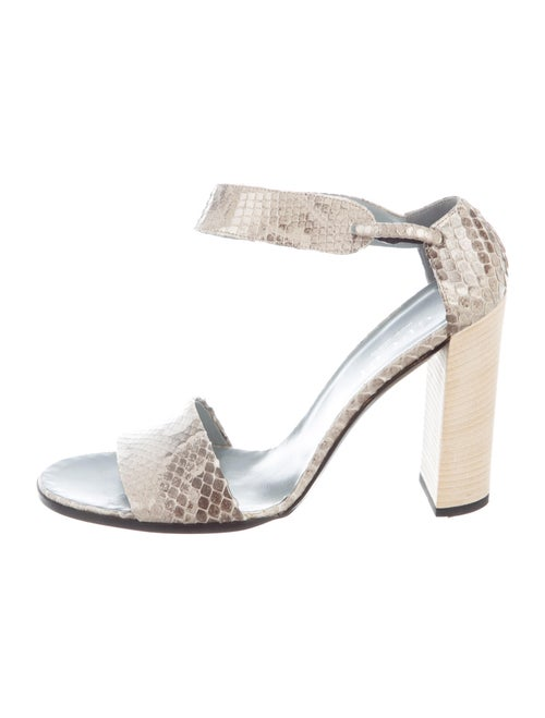 Gucci Snakeskin Animal Print Sandals