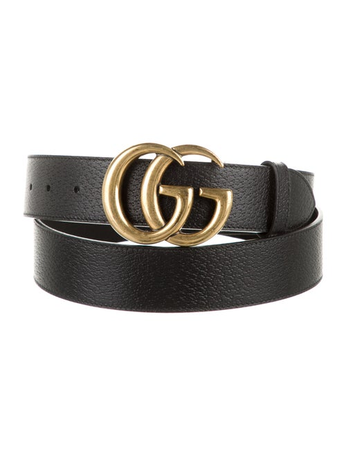 Gucci Leather Marmont Belt black