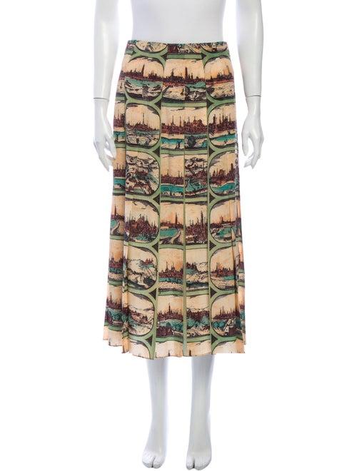 Gucci Silk Midi Length Skirt