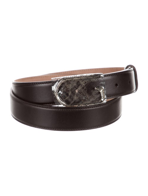 Gucci Leather G Belt black