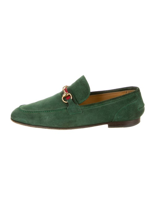 Gucci Suede Dress Loafers Green