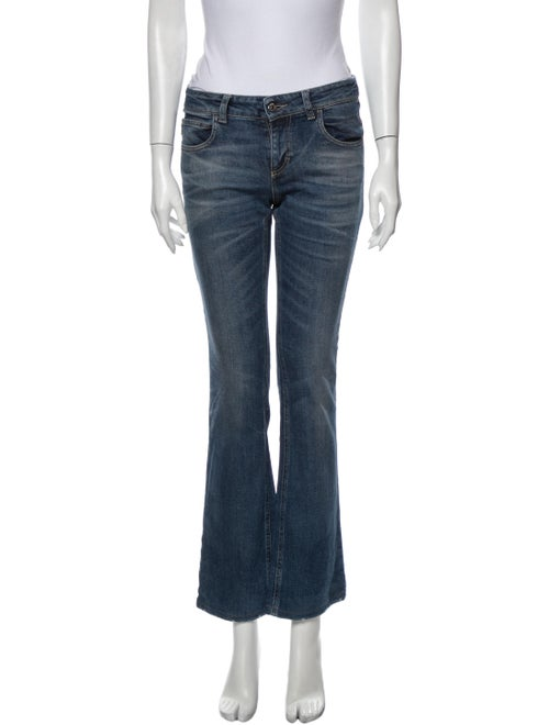 Gucci Low-Rise Straight Leg Jeans Blue