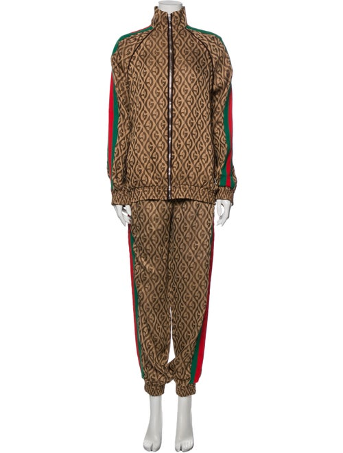 Gucci Printed Pant Set Brown