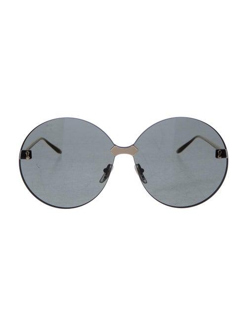 Gucci Rimless Round Sunglasses gold