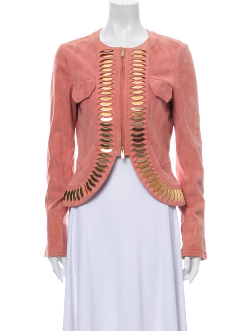 Gucci Leather Evening Jacket Pink