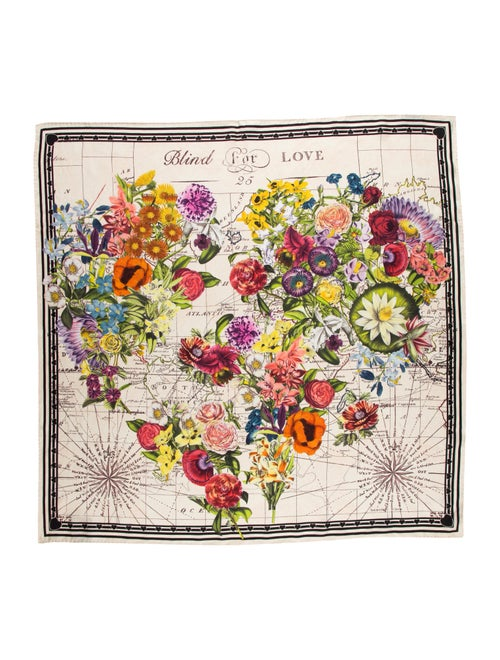 Gucci Silk Floral Printed Scarf multicolor - image 1