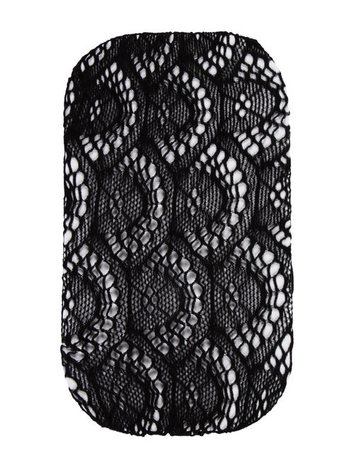 Gucci Footless Woven Tights Black