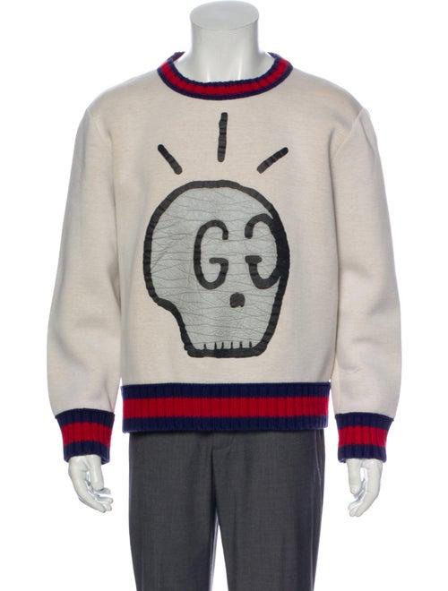 Gucci Graphic Print Crew Neck Sweatshirt