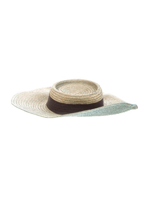 Gucci Straw Wide Brim Hat Tan