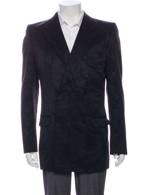 Gucci Abstract Jacquard Blazer Black