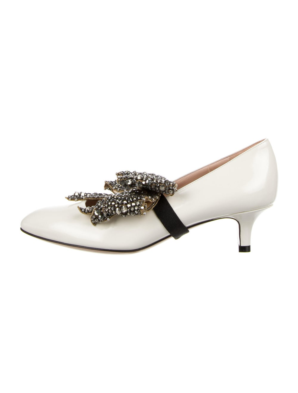 Gucci Leather Crystal Embellishments Pumps - image 1
