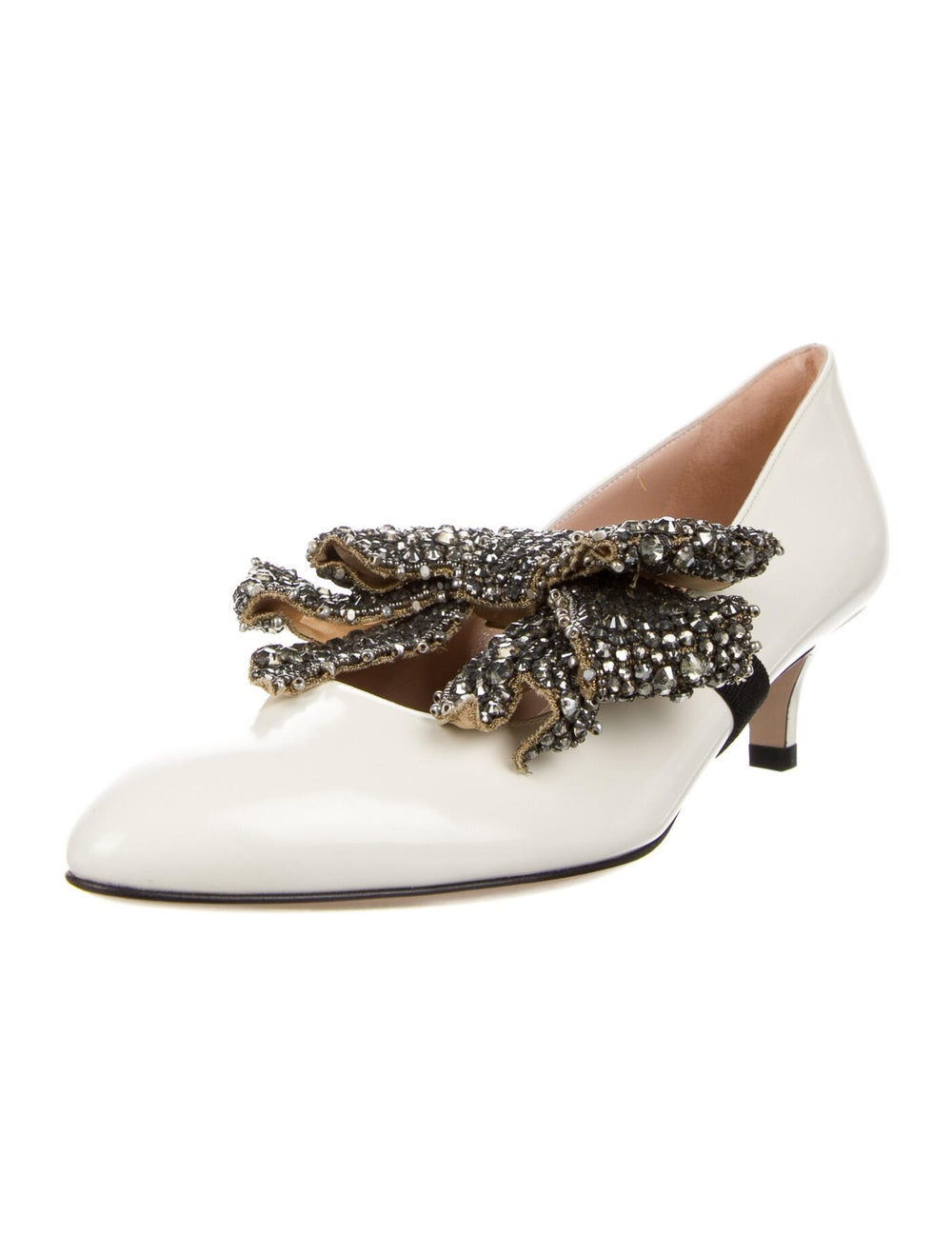 Gucci Leather Crystal Embellishments Pumps - image 2